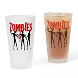 Cute Zombie Drinking Glass