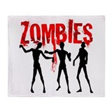 Cute Zombie Throw Blanket