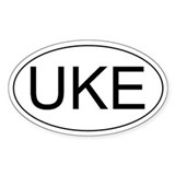 Uke Ukulele Oval Decal
