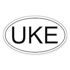 Uke Ukulele Oval Decal