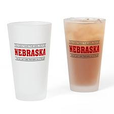 'Girl From Nebraska' Drinking Glass