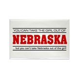 'Girl From Nebraska' Rectangle Magnet