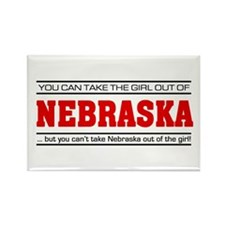 'Girl From Nebraska' Rectangle Magnet (10 pack)