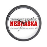 'Girl From Nebraska' Wall Clock