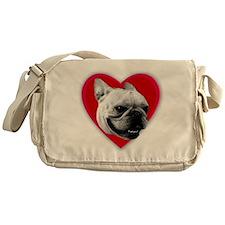Love French Bulldog Messenger Bag
