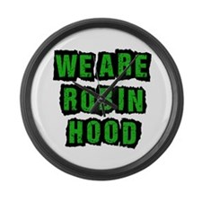We Are Robin Hood Occupy Large Wall Clock