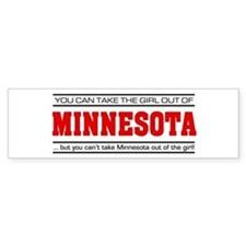 'Girl From Minnesota' Bumper Sticker