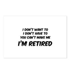 I'm Retired Postcards (Package of 8)