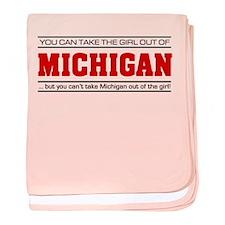 'Girl From Michigan' baby blanket