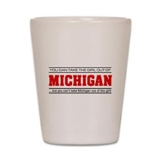'Girl From Michigan' Shot Glass
