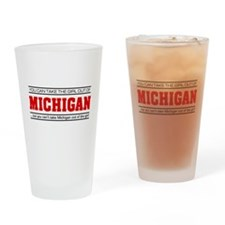 'Girl From Michigan' Drinking Glass