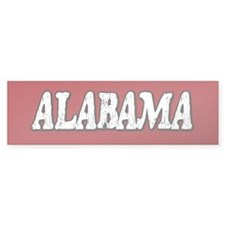 Alabama Vintage Bumper Bumper Sticker