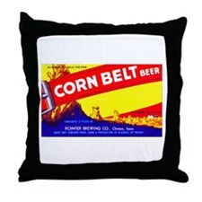 Iowa Beer Label 7 Throw Pillow