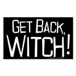 Get Back Witch Sticker