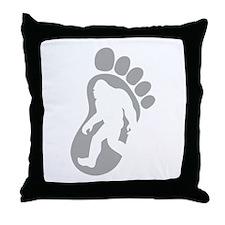 Yeti Footprint Throw Pillow