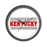 'Girl From Kentucky' Wall Clock