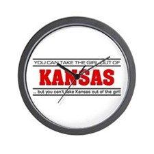 'Girl From Kansas' Wall Clock