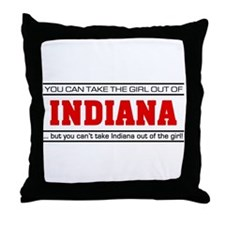 'Girl From Indiana' Throw Pillow