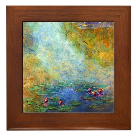 Monet - Nympheas 1908 Framed Tile