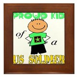 Proud Kid of Soldier Framed Tile