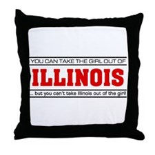 'Girl From Illinois' Throw Pillow