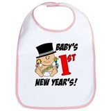 Baby's First New Year's Bib