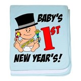 Baby's First New Year's baby blanket