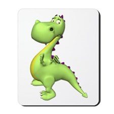 Puff The Magic Dragon - Green Mousepad