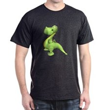 Puff The Magic Dragon - Green Black T-Shirt