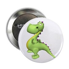 "Puff The Magic Dragon - Green 2.25"" Button (10 pac"