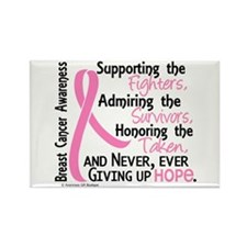 SupportAdmireHonor10 Breast Cancer Rectangle Magne
