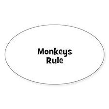 Monkeys Rule Oval Decal