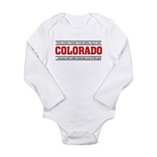 'Girl From Colorado' Long Sleeve Infant Bodysuit