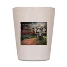 """""""Why God Made Dogs"""" Great Dane Shot Glass"""