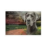 """Why God Made Dogs"" Great Dane Rectangle Magnet"