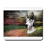"""Why God Made Dogs"" Great Dane Mousepad"