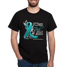 Teal Step Mom Ovarian Cancer T-Shirt