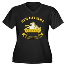 8th Cavalry Division Women's Plus Size V-Neck Dark