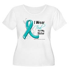 I Wear Teal Sister Ovarian Cancer T-Shirt