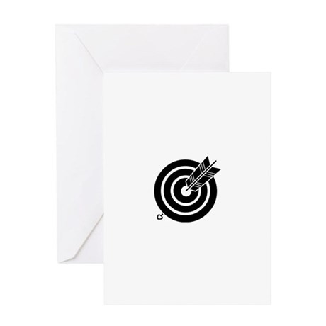 Arrow hit a round target Greeting Card
