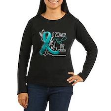 I Wear Teal Partner Ovarian Cancer T-Shirt