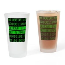 Gender is not Binary Drinking Glass