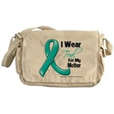 I Wear Teal Mother Ovarian Cancer Messenger Bag