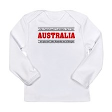 'Girl From Australia' Long Sleeve Infant T-Shirt