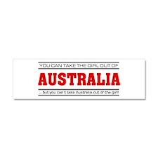 'Girl From Australia' Car Magnet 10 x 3