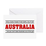 'Girl From Australia' Greeting Cards (Pk of 10)