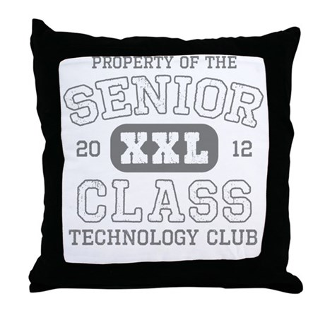 Senior 2012 Technology Club Throw Pillow