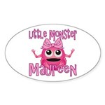 Little Monster Maureen Sticker (Oval)