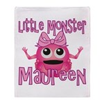 Little Monster Maureen Throw Blanket