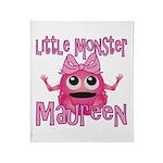 Little Monster Maureen Throw Blanket